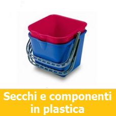 Secchi e componenti in plastica